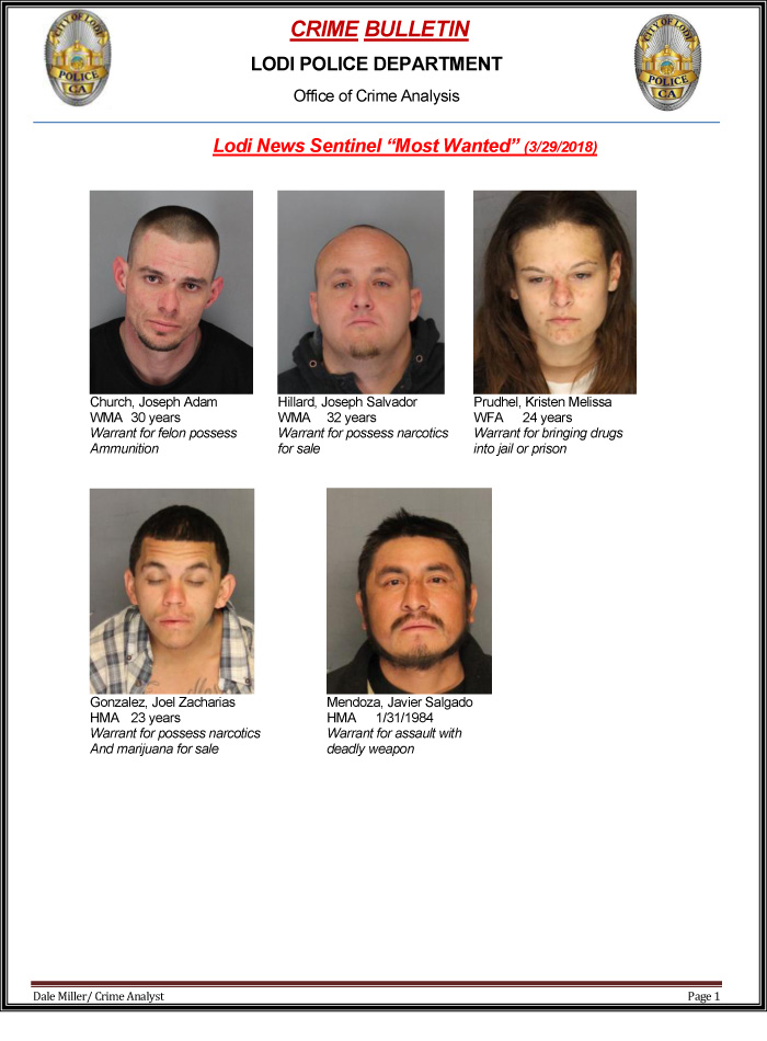 Lodi's Most Wanted | Lodi Area Crime Stoppers